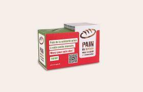 Brot Spendenbox 2021 FR, Tirelire en carton