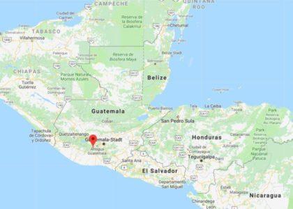Le Guatemala est un pays d'Amérique centrale situé au sud de la péninsule du Yucatán.