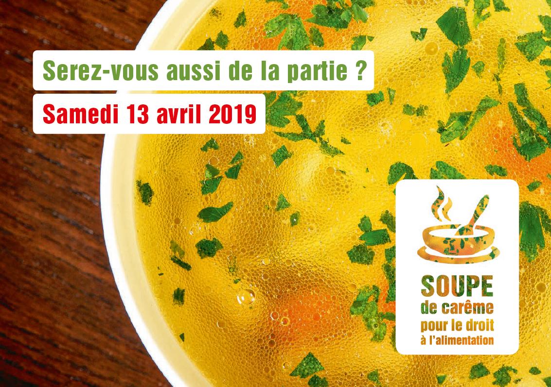 La soupe du jubilé - événement national de la Campagne œcuménique 2019