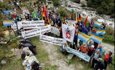 Gedenkfeier Trientgletscher, 6. September 2020