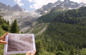 Der Trientgletscher zog sich in den letzten 30 Jahren einen Kilometer zurück.
